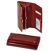 Кошелек женский кожаный лаковый Bretton Gold W1-V red