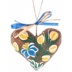 Игрушка ручной работы,Сердечко, ручная роспись,экологически чистый материал 7701