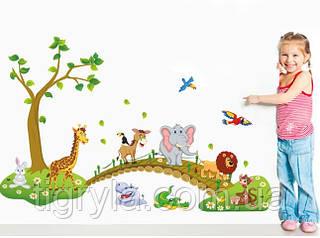 Детская Интерьерная наклейка Зоопарк