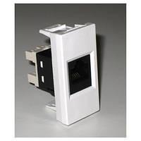 Адаптер для установки модулей  Keystone, 1-порт, стандарт Mosaic45, 1 модуль (45х22,5) (RIN-145-BE)