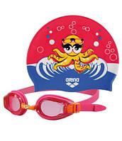 Набор для плавания детский: очки, шапочка MULTI (поликарбонат, TPR,силикон, цвета в ассортименте)