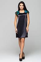Атласное черное платье Паулина Leo Pride 42-46 размеры