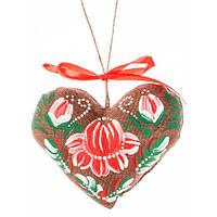 Сердечко на День святого Валентина, ручная роспись,экологически чистый материал7702