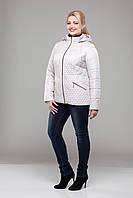 Куртка демисезонная женская стеганная большие размеры М-325 пломбир