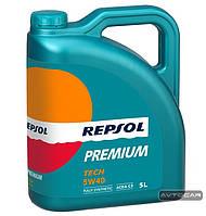 Синтетическое масло REPSOL Premium Tech ✔ 5W40 ✔ емкость 5л.