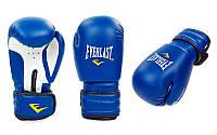 Перчатки боксерские на липучке EVERLAST (р-р 6-12oz, синий, черный, красный)