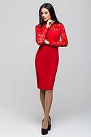 Нарядное красное платье Жаклин  Leo Pride 42-46 размеры