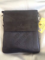 Мужская сумка Louis Vuitton, чёрная Луи Виттон