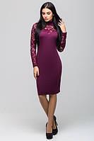 Нарядное бордовое  платье Жаклин  Leo Pride 42-46 размеры