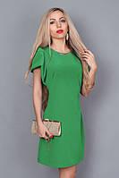 Короткое нарядное платье с оригинальным рукавом,р-р 44,46,48 (зеленое).
