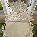 Детская диадема под серебро, тиара, высота 6,5 см., фото 2