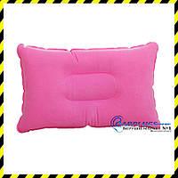 Дорожная надувная подушка прямоугольной формы, pink