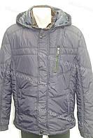 Зимняя мужская куртка с капюшоном очень теплая темно-синяя