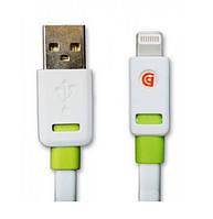 USB кабель Griffin Premium Flat Lightning (8-pin) для iPhone 5/5S/6/6 iPad (1м)