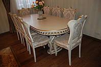 """Столовый набор стол + 6 стульев """"Анна"""" из массива ясень"""