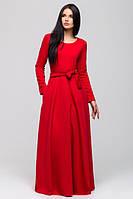 Длинное красное вечернее платье  Китти   Leo Pride 44-46 размеры