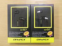 Наушники Awei ES-Q7, гарнитура, наушники, Авэй, аудиотехника, доставка из Запорожья