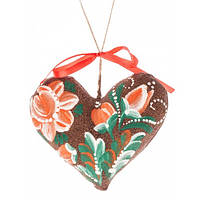 Сердечко на День святого Валентина, ручная роспись,экологически чистый материал7703