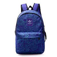 Рюкзак Adidas фиолетовый с изображением голубых фотоаппаратов