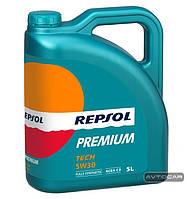Синтетическое масло REPSOL Premium Tech ✔ 5W30 ✔ емкость 5л.