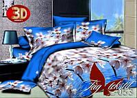 Полуторное постельное поликоттон 3Д Комплект постельного белья 3D HL053