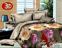 Полуторное постельное поликоттон 3Д Комплект постельного белья 3D HL3781