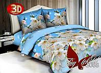 Полуторное постельное поликоттон 3Д Комплект постельного белья 3D TG088