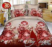 Полуторное постельное поликоттон 3Д Комплект постельного белья BL1749