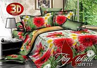 Полуторное постельное поликоттон 3Д Комплект постельного белья XHY717