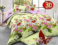Полуторное постельное поликоттон 3Д Комплект постельного белья XHY1061