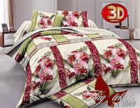 Полуторное постельное поликоттон 3Д Комплект постельного белья XHY1069