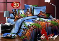 Полуторное постельное поликоттон 3Д Комплект постельного белья XHY341