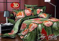 Полуторное постельное поликоттон 3Д Комплект постельного белья XHY348