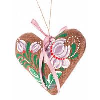 Сердечко на День святого Валентина, ручная роспись,экологически чистый материал7704