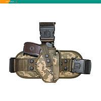 Кобура ПМ набедренная камуфляж с карманом для магазина (018)