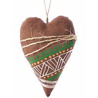Сердечко на День святого Валентина, ручная роспись,экологически чистый материал  7705