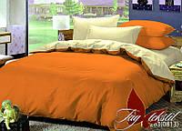 Однотонное постельное двуспальное Комплект постельного белья P-1263(0813)