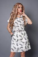 Шифоновое платье-рубашка на подкладке р.40-42,46-48,48-50,50-52 белое перо