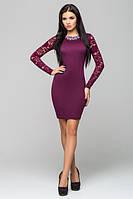 Бордовое женское платье Лия   Leo Pride 42-48 размеры