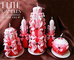 Набір різьблених свічок на подарунок до 14 лютого, 8 березня, день народження, весілля