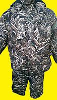 """Костюм зимний непромокаемый Мембранный камуфляж """"камыш"""" -30 (размер 64-66), фото 1"""