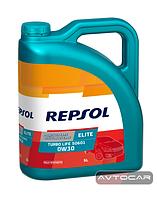 Синтетическое масло REPSOL ELITE TURBO LIFE ✔ 0W30 ✔ емкость 5л.
