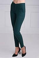Классические женские брюки зеленого цвета