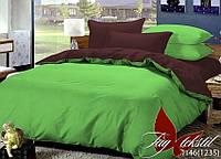 Однотонное постельное белье семейное Комплект постельного белья P-0146(1235)