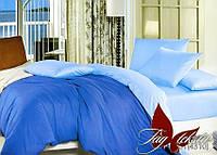 Однотонное постельное белье семейное Комплект постельного белья P-4101(4310)