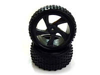 28659 1:18 tire and rim for buggy and short course truck 2p