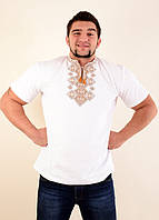 Молодежная мужская вышиванка с машинной вышивкой крестиком