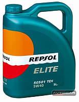 Синтетическое масло REPSOL ELITE 50501 TDI ✔ 5W40 ✔ емкость 5л.