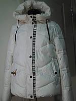 Куртка зимняя женская на холлофайбере-очень теплая с капюшоном на молнии длина 65 см Зима 46р-48р