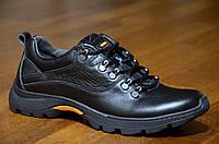 Кроссовки ботинки мужские натуральная кожа, черные супер качество Харьков. Со скидкой.
